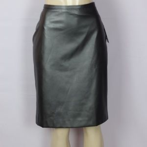 BRANDNEW TOMMY HILFIGER GRAY FAUX LEATHER SKIRT 12
